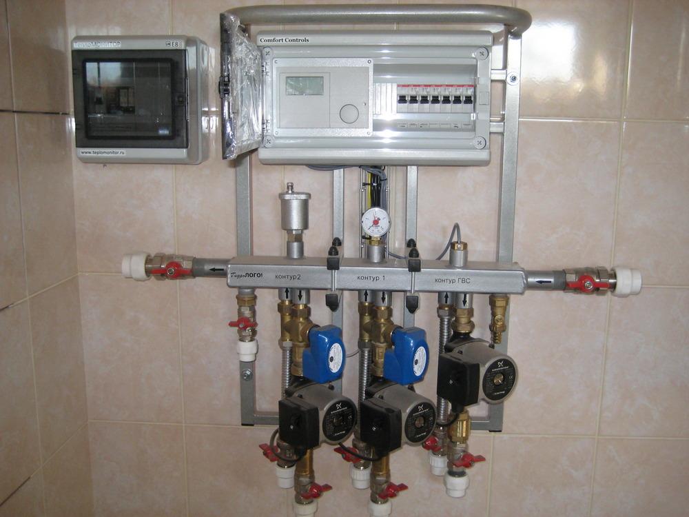 Коллектор для твёрдотопливного котла до 60 кВт