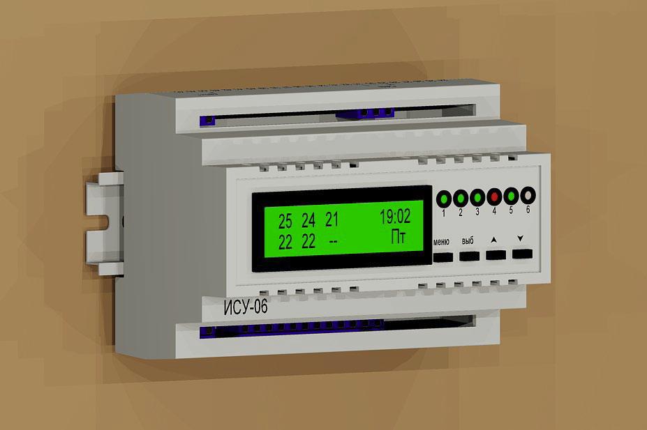 Блок управления тёплыми полами или радиаторами ИСУ-06